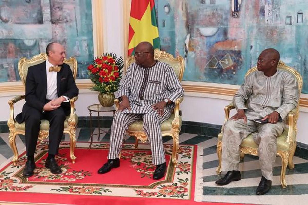Kosyam: Roch reçoit l'Ambassadeur de la République fédérale d'Allemagne en fin de mission