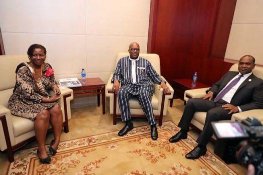 29e Sommet de l'Union africaine : Le Président du Faso accorde une audience à la Directrice par intérim du FNUAP