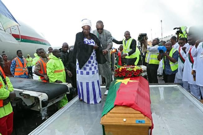 La dépouille mortuaire du président de l'Assemblée nationale arrivée à Ouagadougou