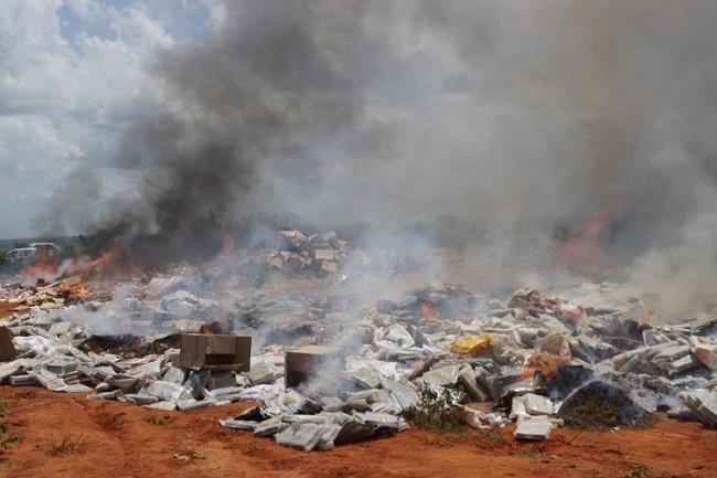 Bobo-Dioulasso: Drogue et produits prohibés d'une valeur de 2 milliards FCA incinérés