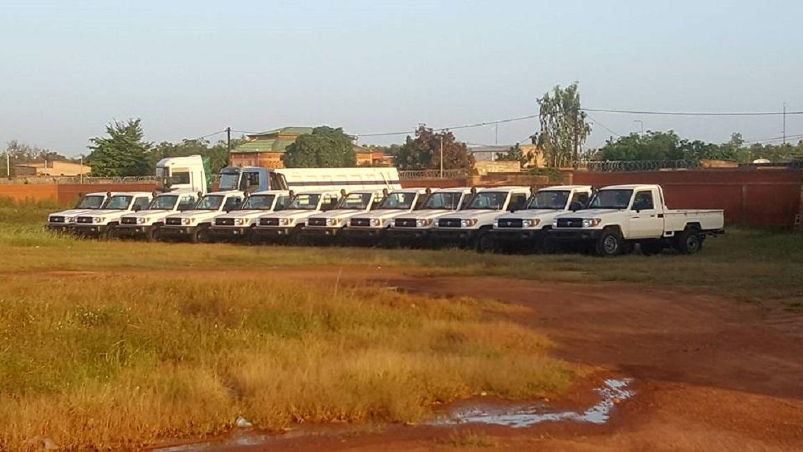 Sécurité: 22 véhicules Pick -up pour les Forces de Défense et Sécurité