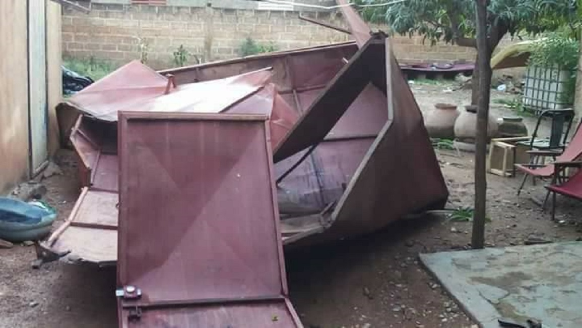 Ouagadougou: un vent violent sème la désolation