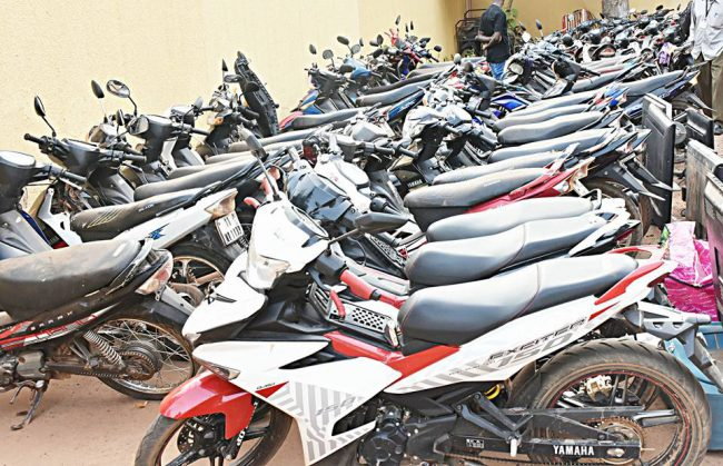 Police Nationale: 114 motos volées en tout, 13 téléviseurs et des ordinateurs saisis aux mains des délinquants