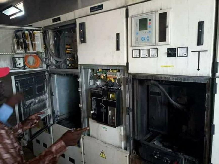 SONABEL : les installations de Goughin partit en flamme