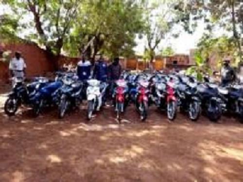 Bobo Dioulasso :  35 motos retrouvées chez trois délinquants