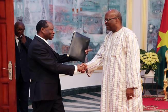 Kosyam: Le nouveau vice-président Ram Ouédraogo reçu par le Président du Faso