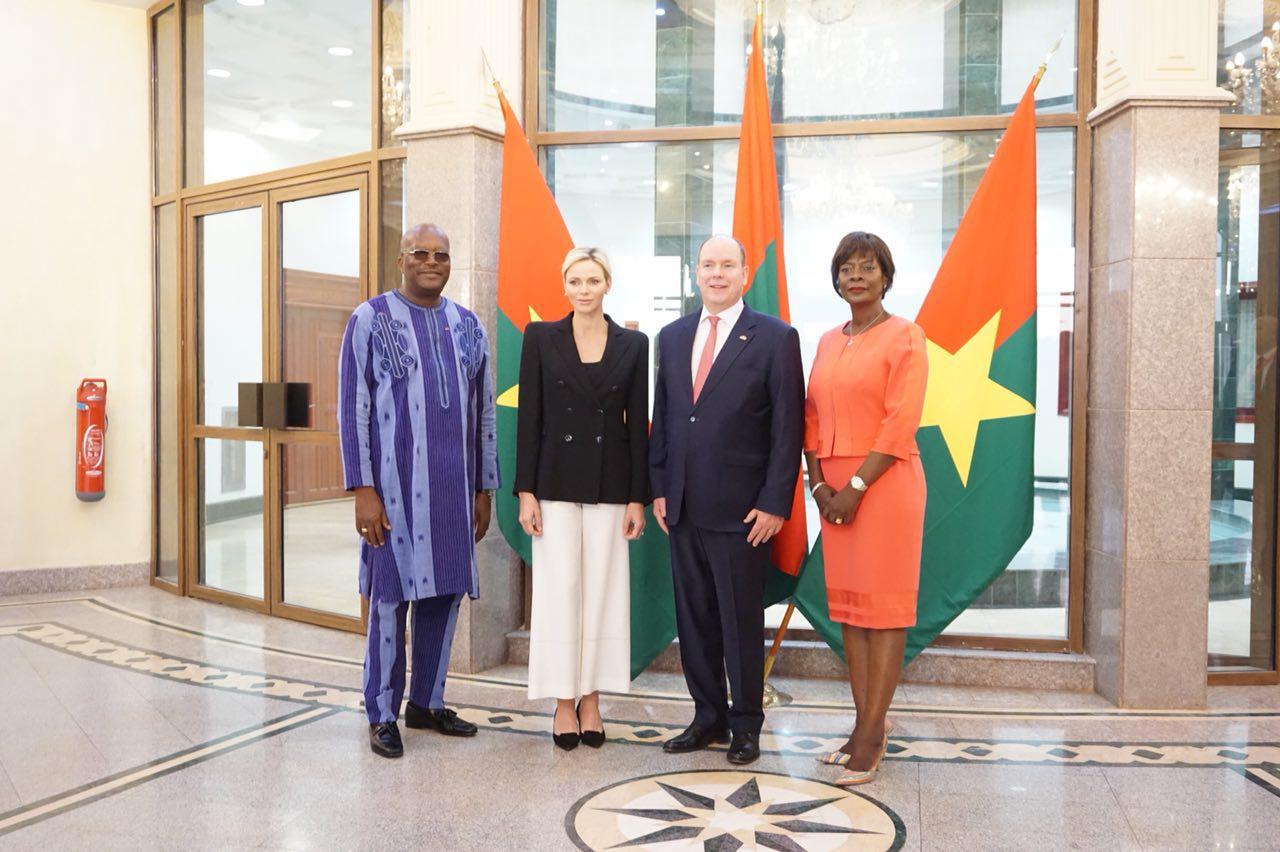 Le Prince Albert II de Monaco et la Princesse Charlène au Burkina pour une visite d'amitié et de travail