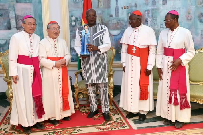 Le Cardinal de Séoul reçu en audience par le Président du Faso