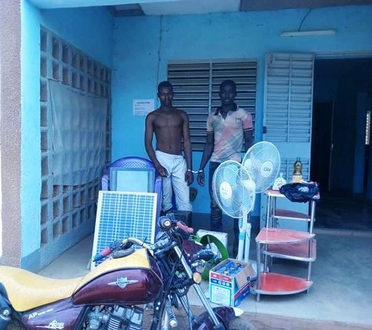 Boromo: Deux cambrioleurs dans les filets de la police nationale