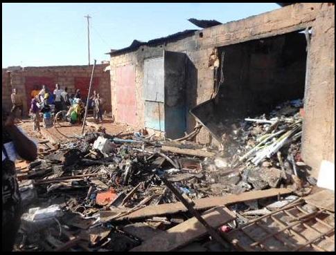 Marché de Gourcy : Deux boutiques parties en fumée