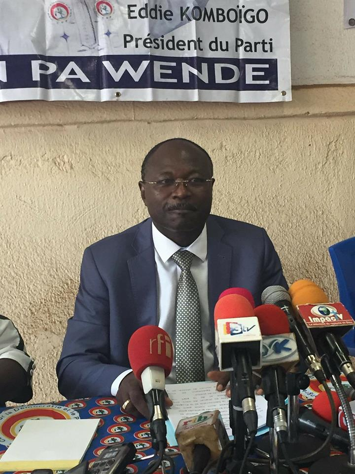 Politique: «L'assemblée Nationale a votée une loi taillée à la taille de François Compaoré» Eddie Komboigo