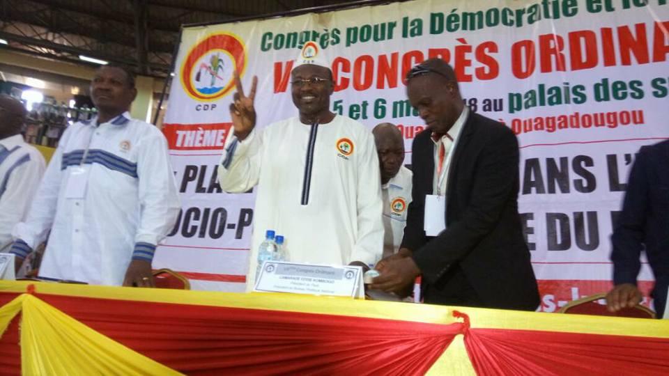 7e congrès ordinaire du CDP: Eddie Komboigo reconduit à la tête de CDP