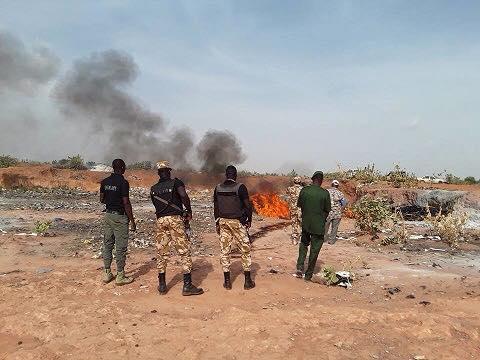 Ouagadougou : Environ 1305 peaux d'ânes incinérées