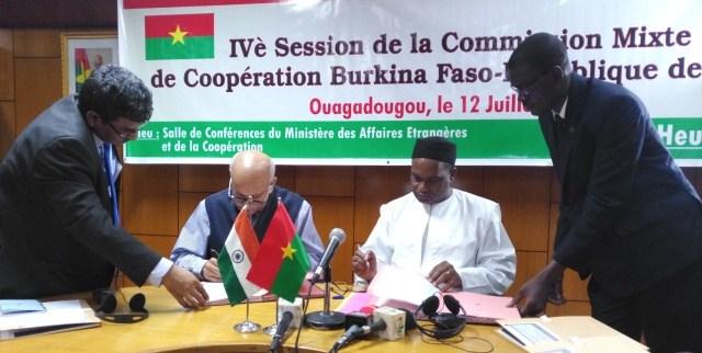 Diplomatie: l'Inde et le Burkina ont signé des accords