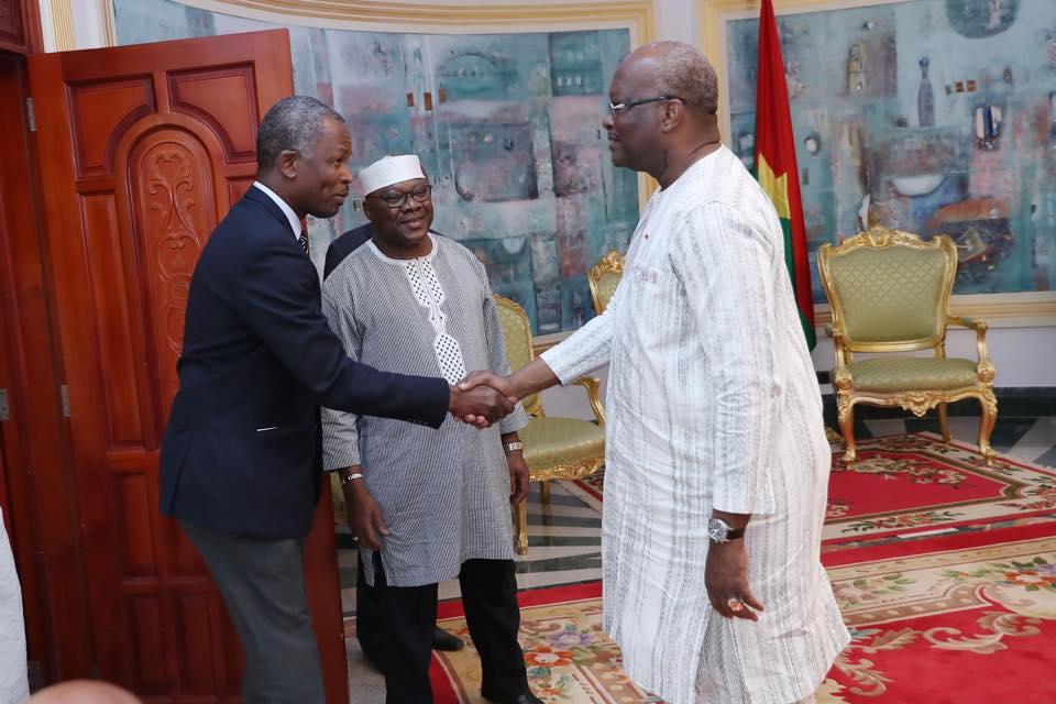 SAMAO: le président du Faso reçoit une délégation du secteur minier et des carrières.
