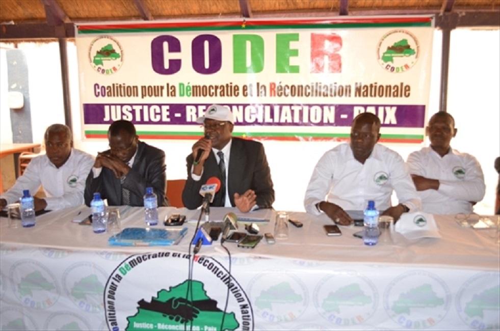 Dialogue Politique: Déclaration de la coalition pour la démocratie et la réconciliation nationale (CODER)
