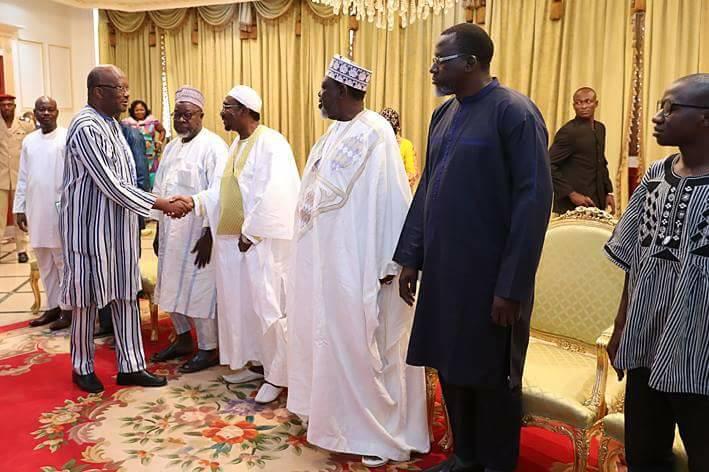 La FAIB reçue en audience par le Président du Faso