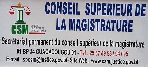 Burkina/Coronavirus:: La réaction du Conseil Supérieur de la Magistrature à la sortie médiatique du Ministre de la communication à propos des actes de tortures pendant le couvre feu