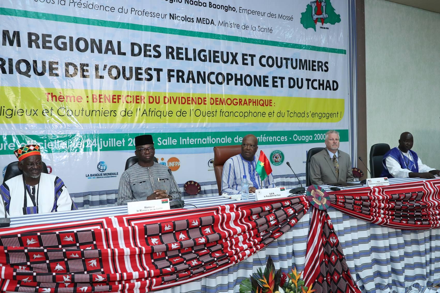 """Forum des leaders religieux et traditionnels sur le dividende démographique : """"un espoir pour l'Afrique"""",le Président du Faso"""