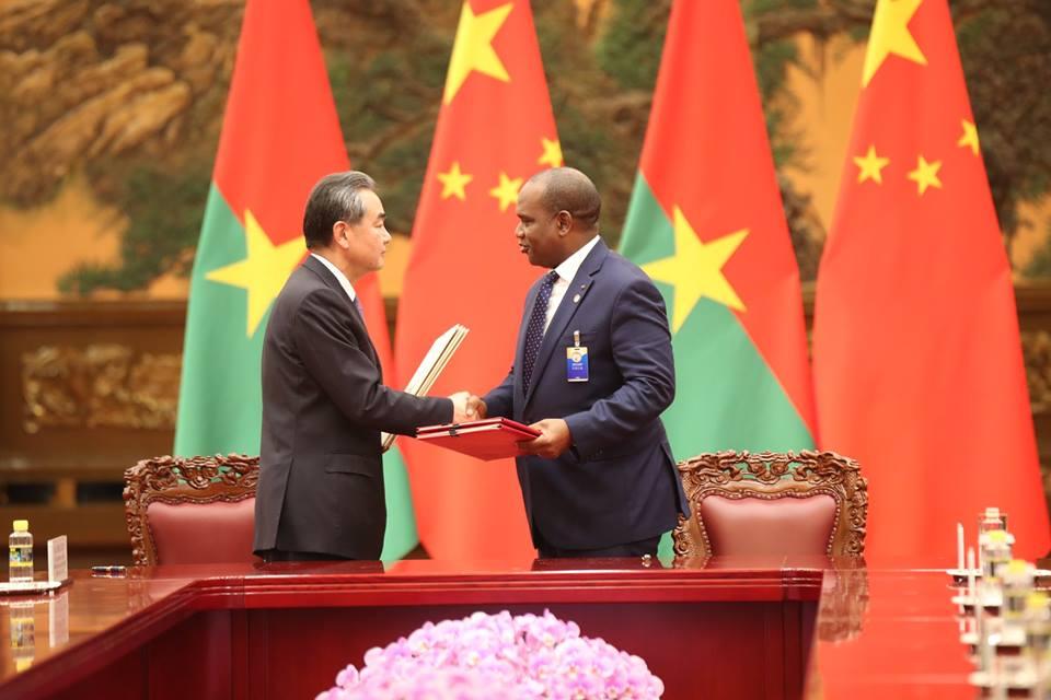 Le Burkina Faso et la Chine ont signé six accords de coopération