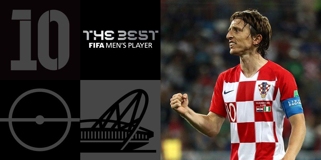 The Best FIFA Awards: Luka Modric meilleur joueur de l'année 2018