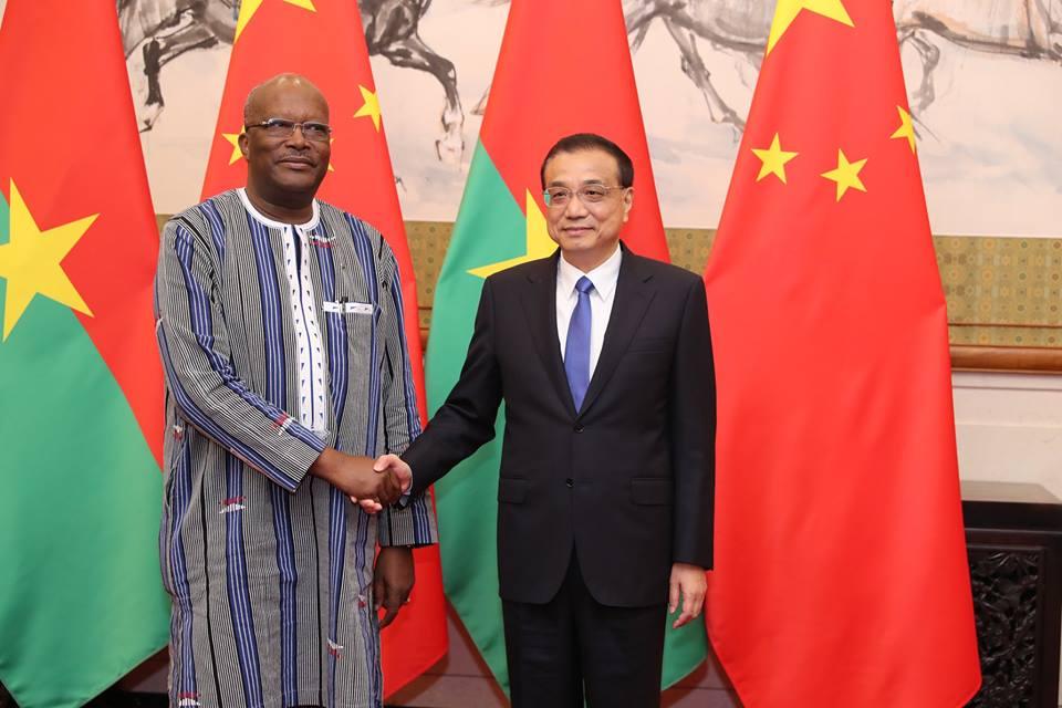 Le président du Faso s'entretient avec le Premier ministre chinois