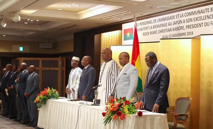 Le président du Faso salue le comportement exemplaire des Burkinabè vivant au Japon.