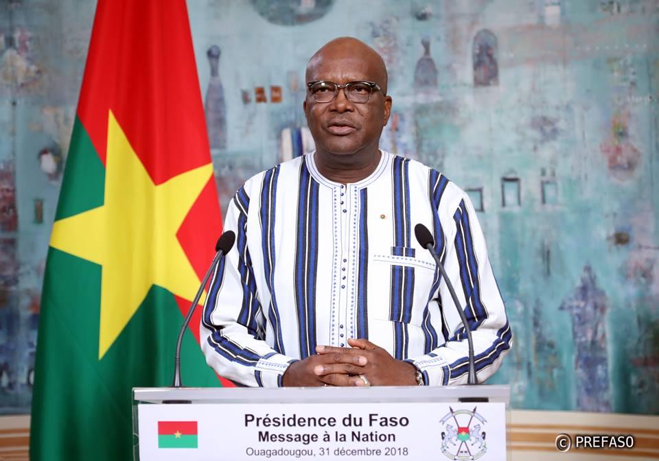 Nouvel an 2019: le message du président du Faso