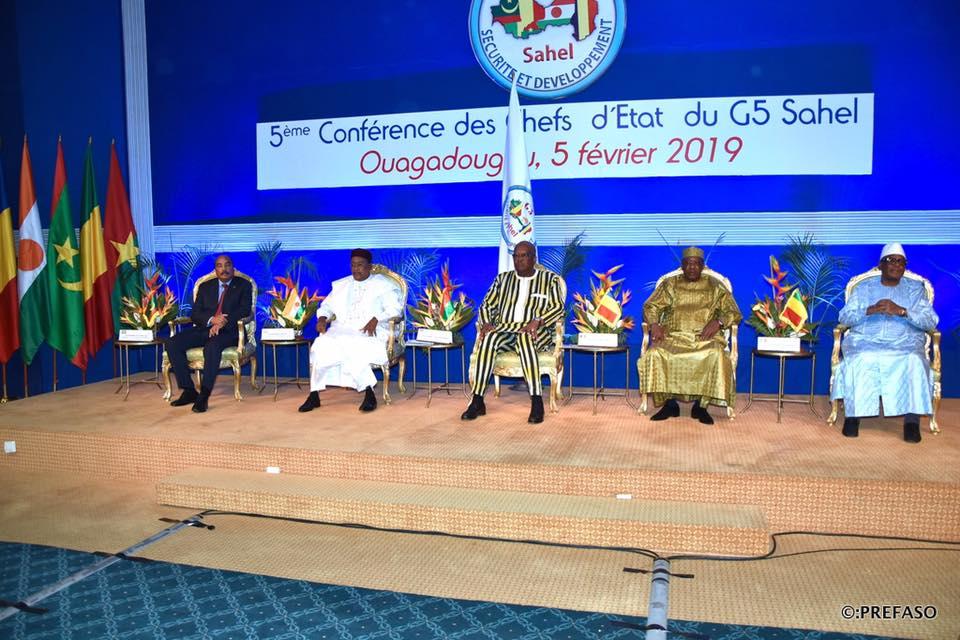 5e conférence des chefs d'Etat du G5 Sahel : les institutions partenaires réaffirment leur soutien au G5 sahel.
