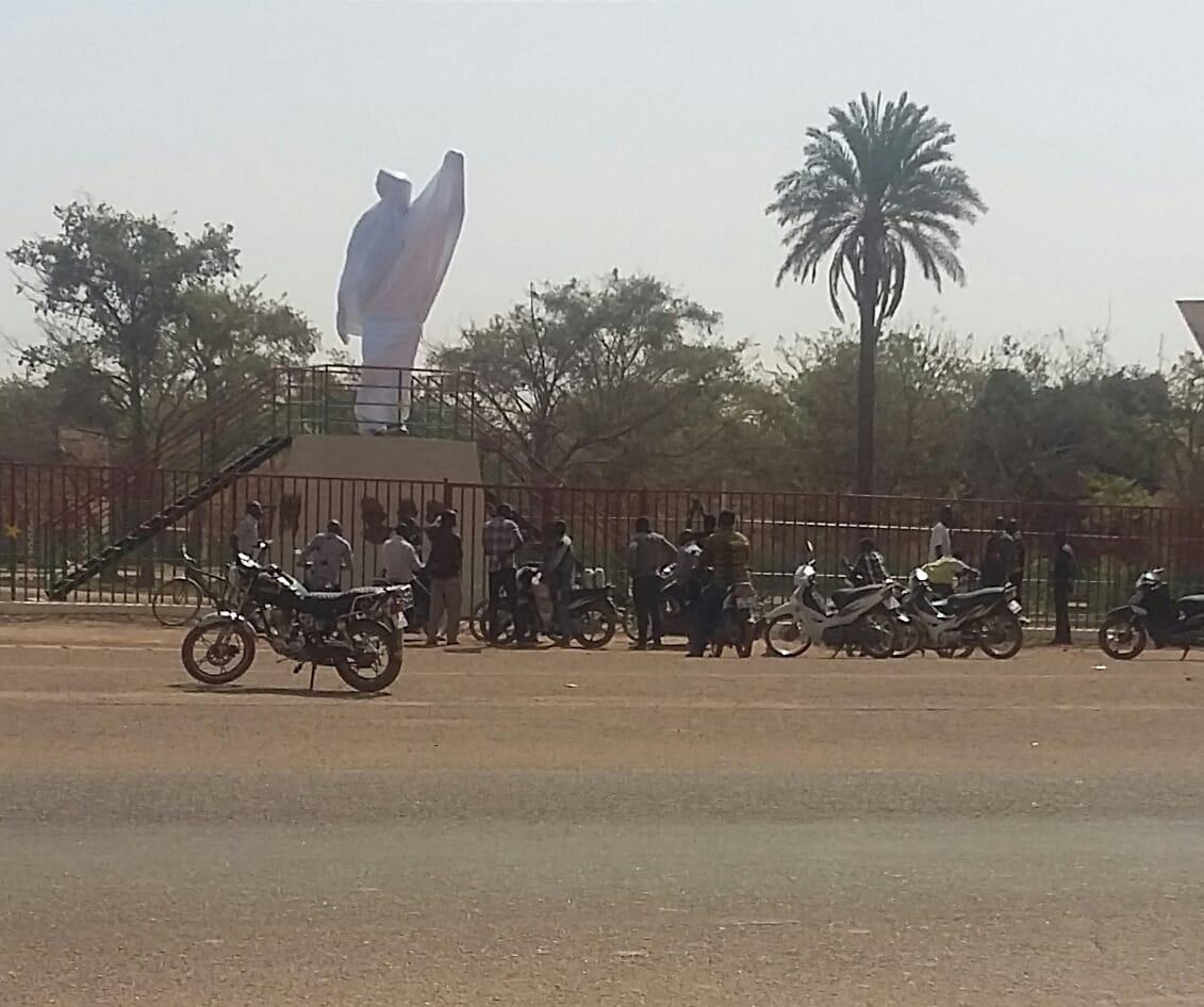 Statue de Thomas Sankara: elle était prévu pour être installé dans un carrefour important de la ville de Ouagadougou