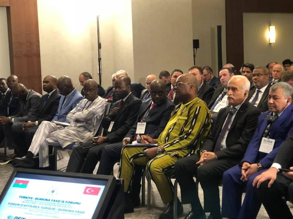 Forum d'affaires Turquie-Burkina Faso: pour le renforcement des relations économiques entre les deux pays.
