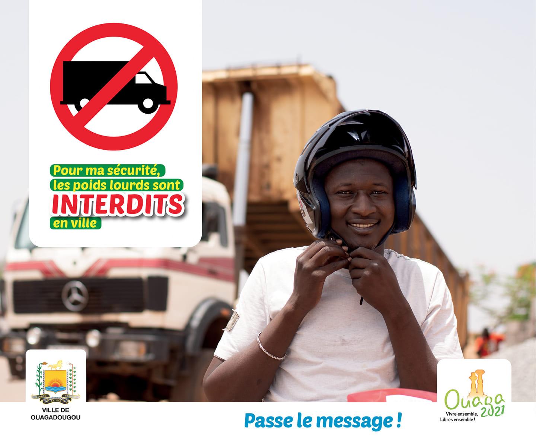 Ouagadougou: la mairie lance une campagne contre les camions poids lourds dans la ville