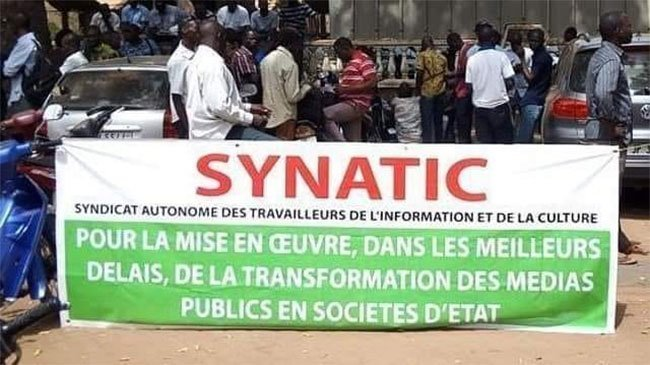 Médias public: le SYNATIC décrète un arrêt de travail jusqu'à nouvel ordre
