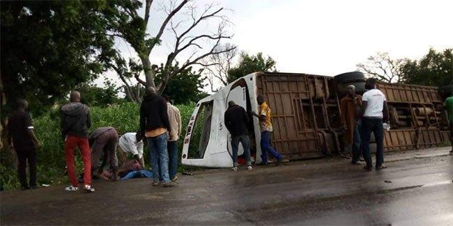 Mogtédo: Un car de la compagnie STAF fait un accident , bilan 4 morts, 17 blessés