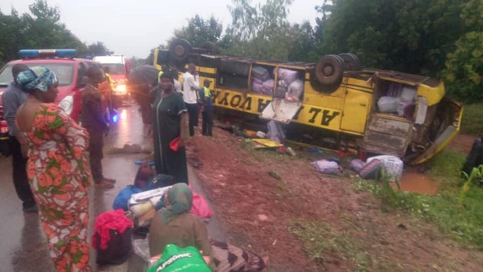 Sécurité routière: huit (08) blessés dont trois (03) dans un état grave dans un accident à la sortie de Bobo Dioulasso