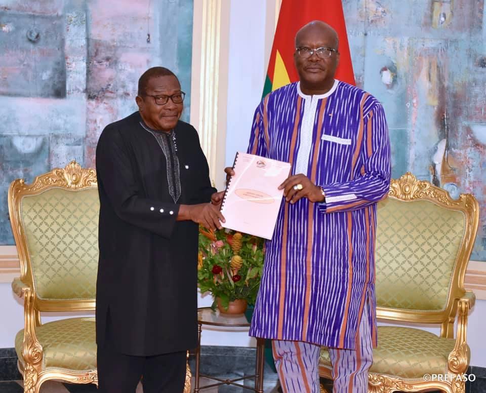 Haut Conseil du Dialogue social : le rapport d'activités 2018-2019 remis au président du Faso.