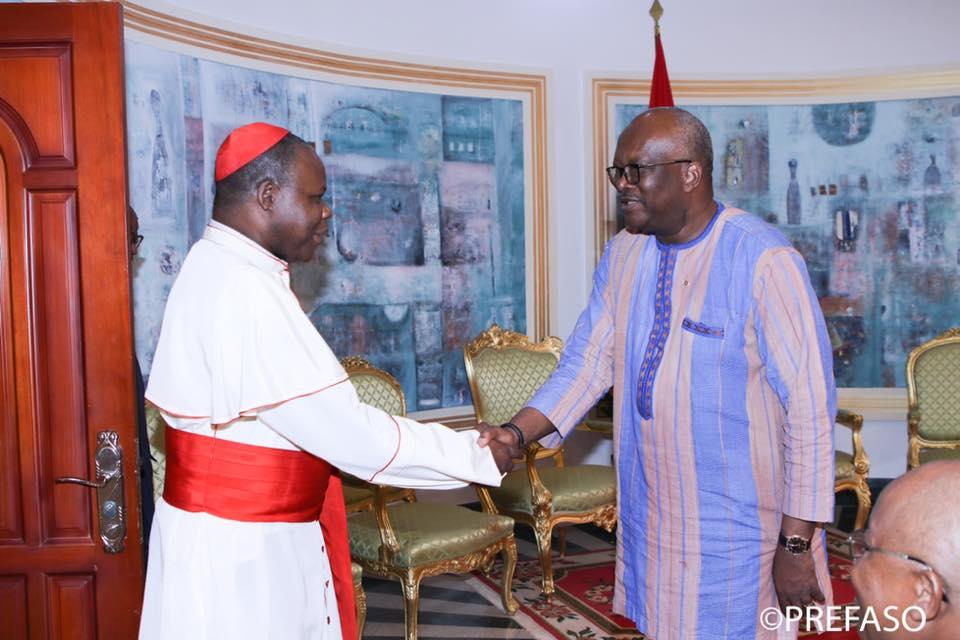 IVe Congrès panafricain de la Miséricorde divine : l'envoyé spécial du pape François fait le point au président du Faso.