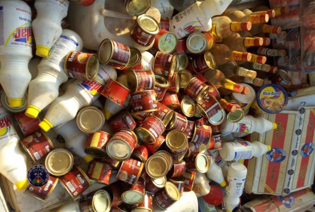 Gaoua: une tonne de denrées périmées saisie par le Commissariat Central de Police