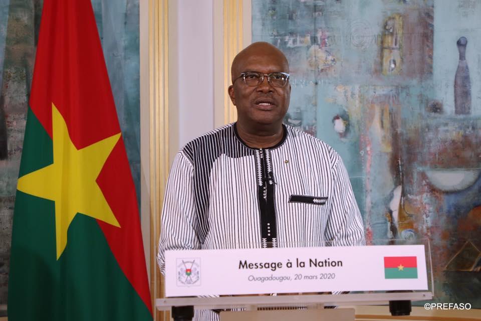 Message à la nation de son excellence monsieur Roch Marc Christian Kabore Président du Faso, sur l'épidémie du covid 19.