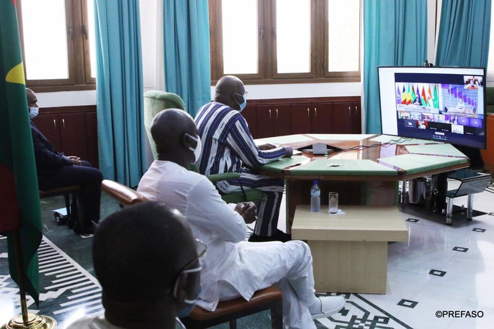 G5 Sahel : les chefs d'Etat en visioconférence avec l'Union européenne.