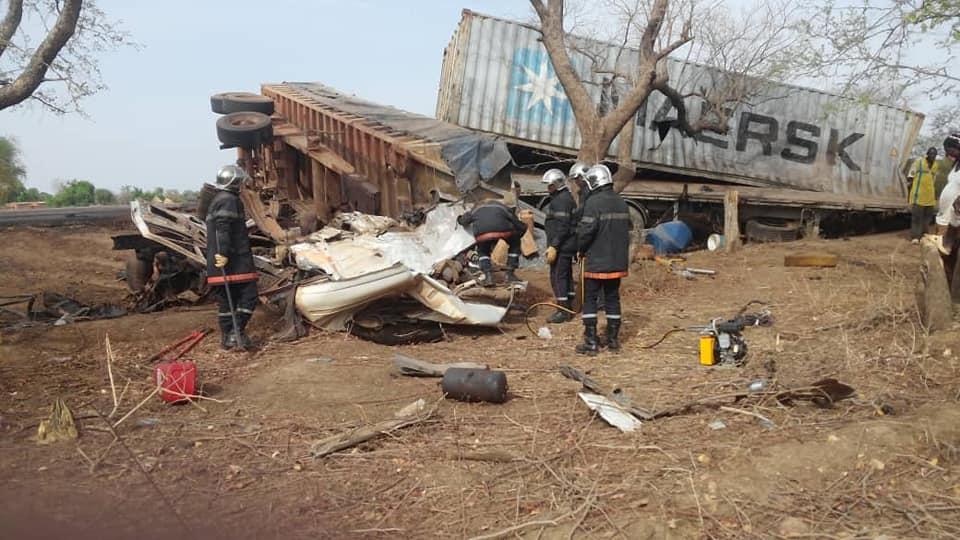 Axe Ouagadougou-Koupela: un accident de 2 camions remorques fait 3 morts