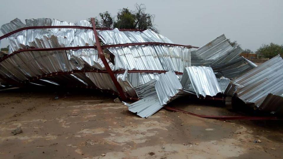 Komondjari : Le laboratoire du lycée provincial de Gayéri endommagé par une pluie