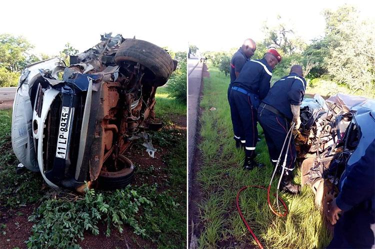 Burkina: 1 mort et 03 blessés dans un accident de circulation dans le village de Koumbia sur la route nationale n°1