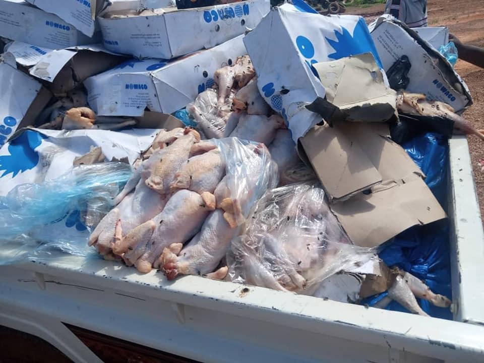 Société: Saisie et incinération de 1,5 tonnes de poulets et de poissons avariés.