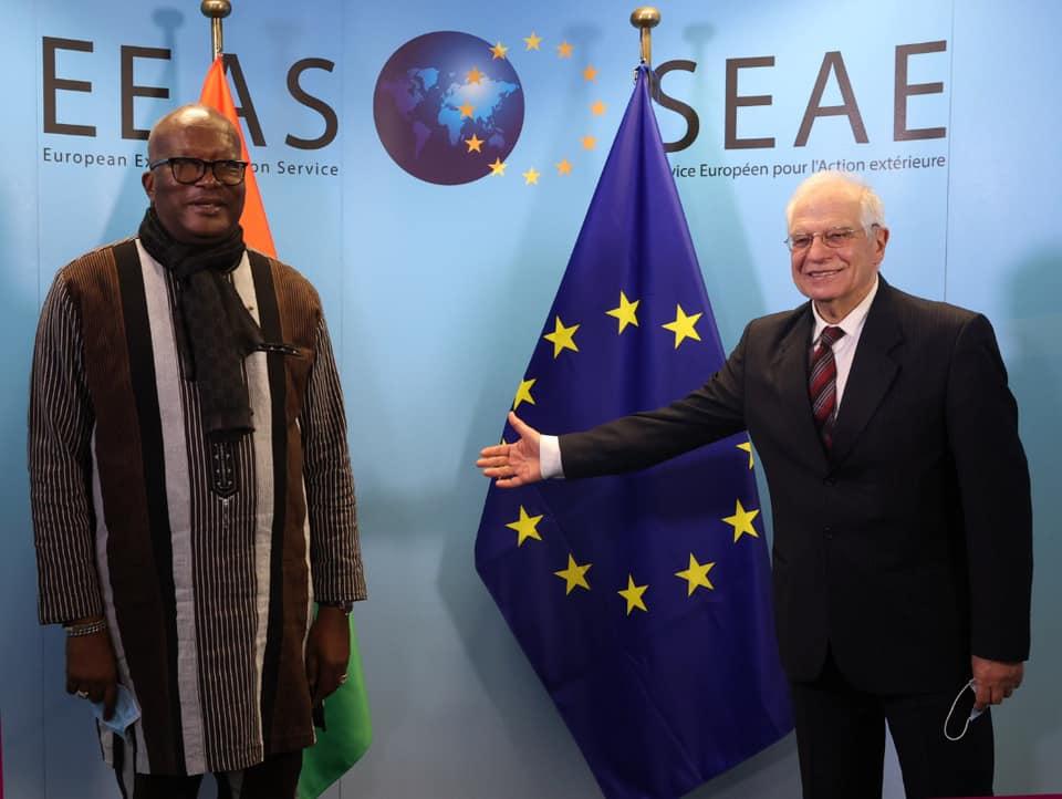 Visite de travail en Belgique : Roch Marc Christian Kaboré s'entretient avec Josep Borrell