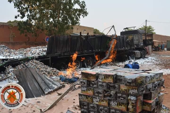 Ouagadougou: 60 tonnes d'alcool partit en fumée