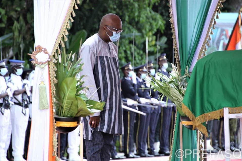Hommage à Hamed Bakayoko : le Président du Faso s'incline sur la dépouille de Hamback