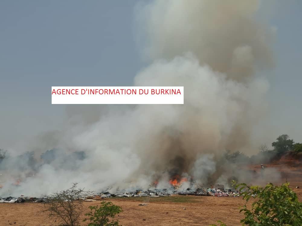 Burkina: 13 tonnes de stupéfiants incinérés