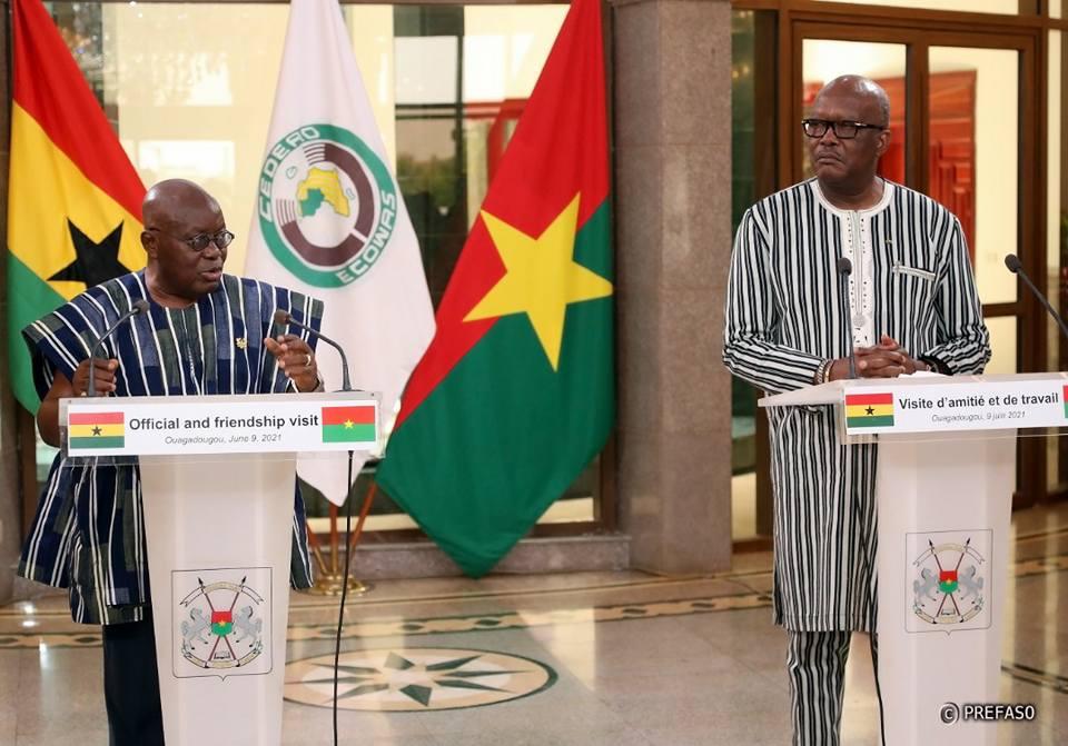 Visite du président ghanéen au Burkina : Nana Akufo-Addo exprime la solidarité de la CEDEAO et de son pays au peuple burkinabè
