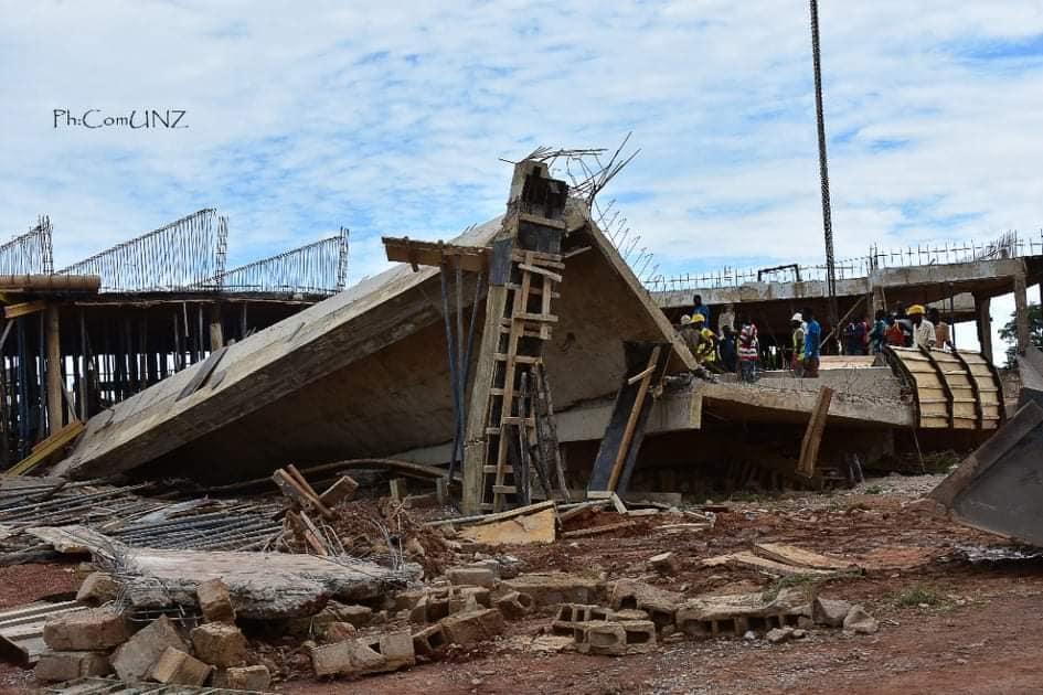 Université Norbert Zongo de Koudougou: 4 morts et 1 blessé dans l'effondrement d'un bâtiment en construction.
